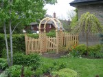 Picket Fence w/ Custom Cedar Arbour